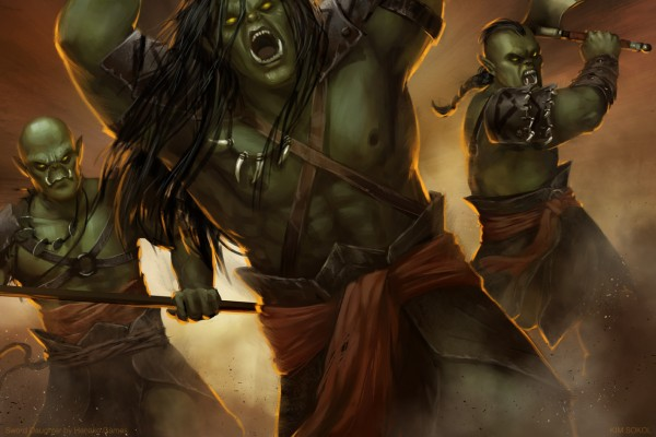 A Battle With Orcs